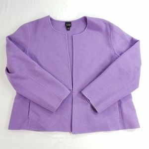 Eileen Fisher Wool Blend Open Front Blazer Coat
